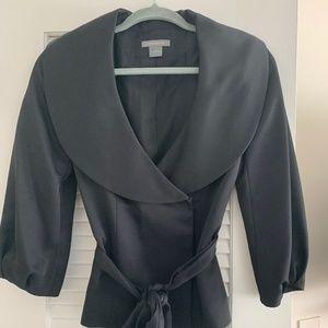 Ann Taylor Black Jacket/Blazer (SM)